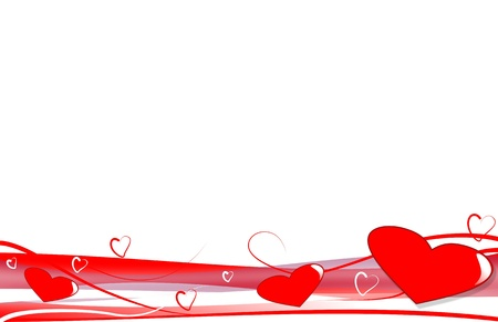 amore: romantica decorazione con cuori Illustration