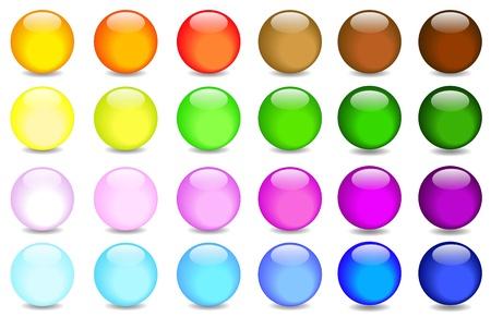 red sphere: effetto di sfere di vetro