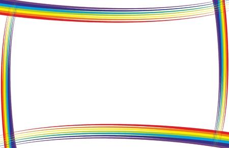 rainbow frame vector Stock Vector - 10989415