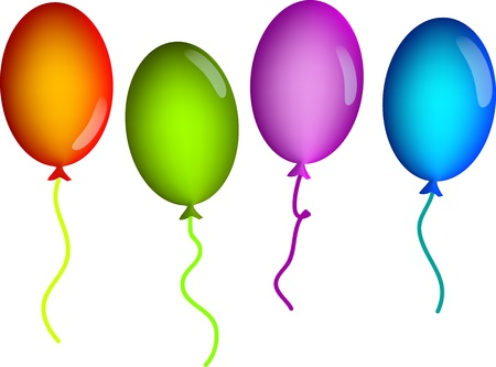 background with colorful balloons in the vector Stock Vector - 10989358