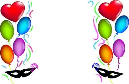di: sfondo di carnevale con palloncini