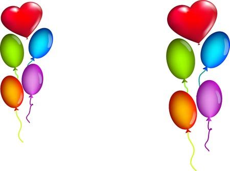 bambini: sfondo bianco con palloncini colorati
