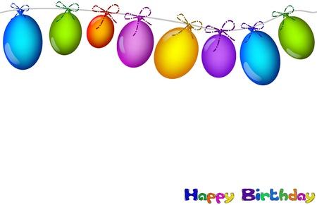 carnevale: sfondo con palloncini colorati
