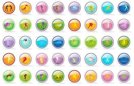 icone: bandiera sportiva con linee colorate