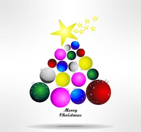 natale: astratto albero di Natale