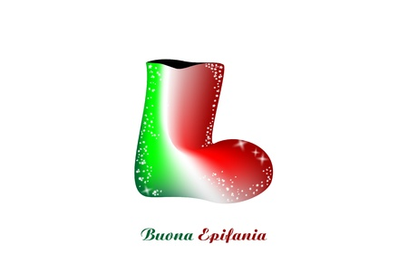 italian sock for the feast of the epiphany Vector