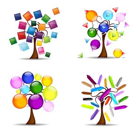original set of trees, vector Stock Vector - 11060648