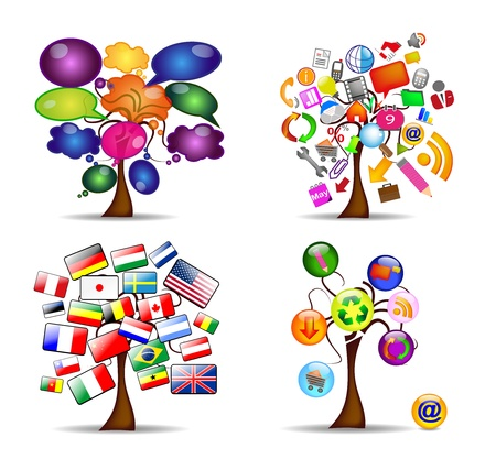 original set of trees, vector Stock Vector - 11060652
