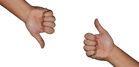 thumb affirmative and negative Stock Photo - 11244657