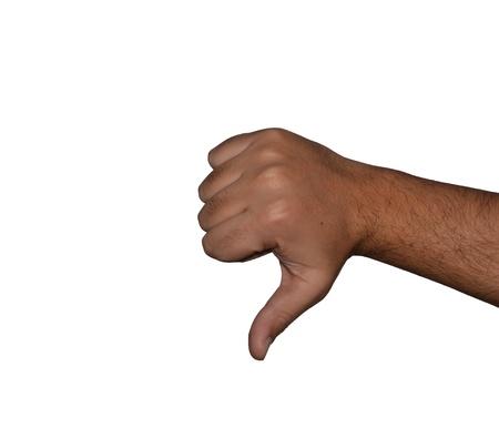 negative thumb photo