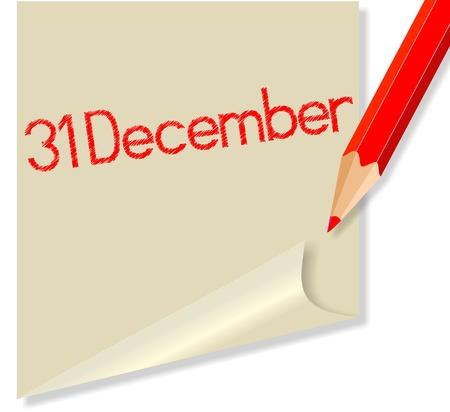 anno: 31 Dicembre Illustration