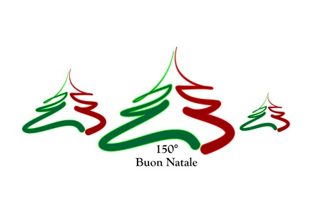 merry christmas italy, 150 years Vector