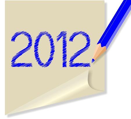 Post-it 2012 Stock Vector - 11529214