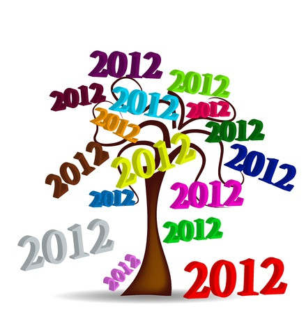 Original Tree 2012 Stock Vector - 11529213
