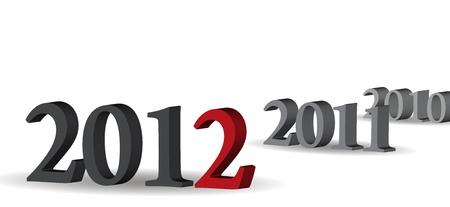 Arrives in 2012 Stock Vector - 11529220