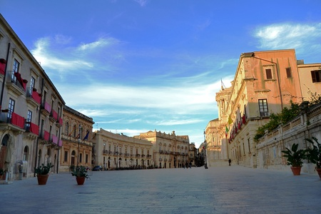 saint lucia: Piazza Duomo in Ortigia Syracuse