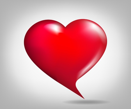 Cartoon-shaped Heart Vector