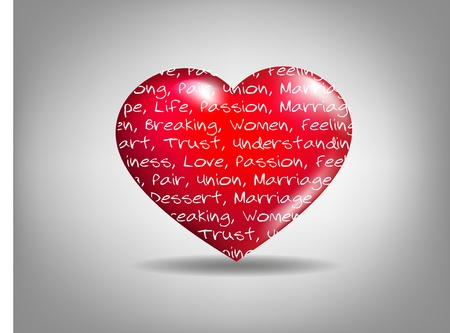 Sentiment of Love  Vector