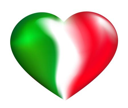 hanging woman: Cuore italiano Vettoriali