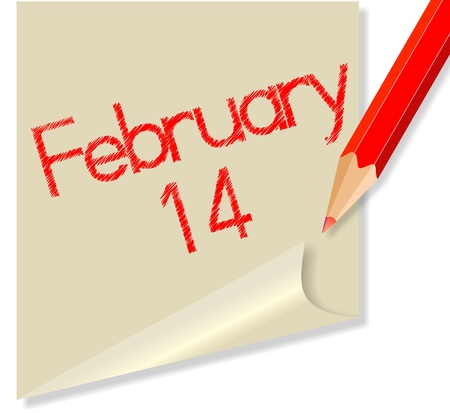 February 14 Vector