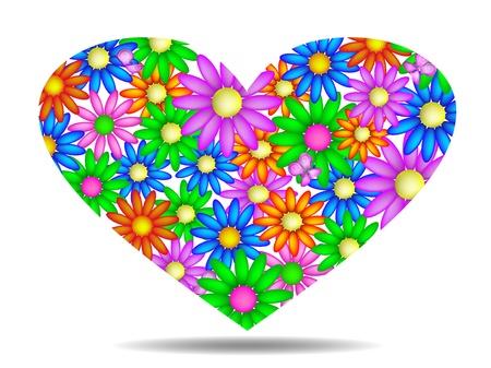 sentiment: Floral heart