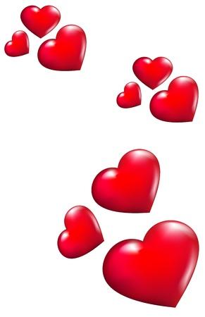 Fliegende Herzen