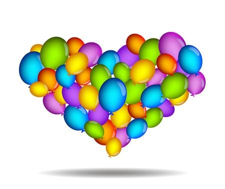Flying hearts Stock Vector - 11944790