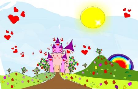 Castle of Love Stock Vector - 11944795