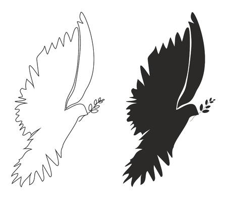 Dove of Peace vector Vector