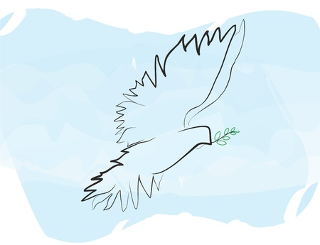 the feast of the passover: Dove of Peace vector
