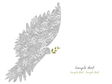paloma blanca: Paloma de la Paz de vectores Vectores