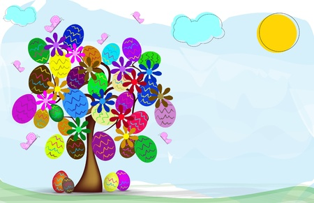 colored eggs: background Easter