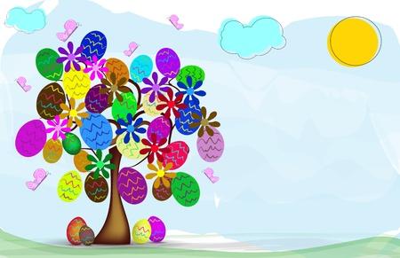 arbol de pascua: fondo de Pascua