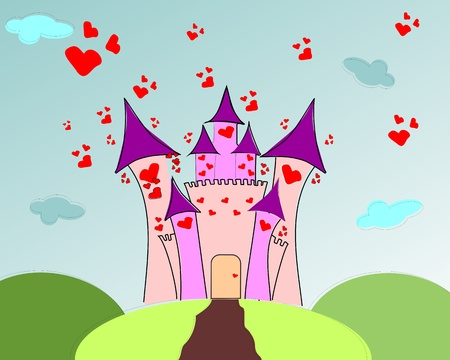 Castle of love Vector