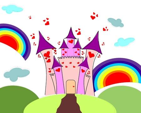 Castle of love Vector
