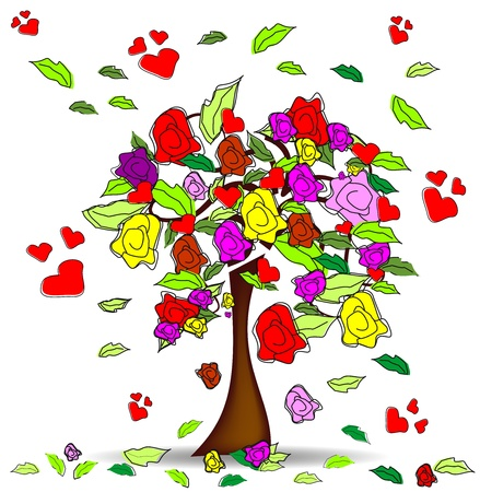 Tree roses Stock Vector - 12014255