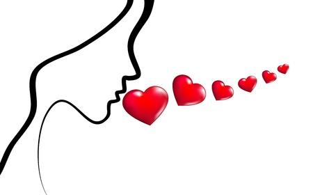 esperanza: Palabras de amor Vectores