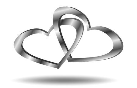 hanging woman: Hearts collegati Vettoriali