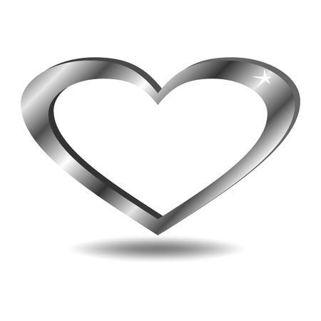 Metal heart Stock Vector - 12178611