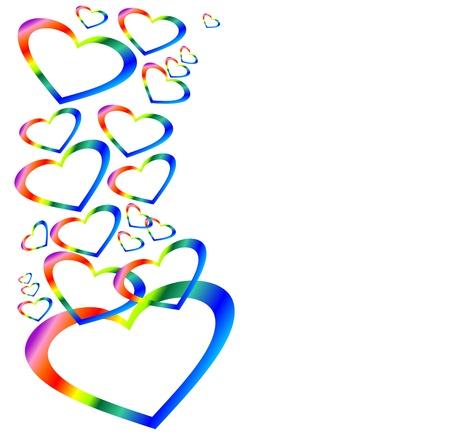 balloon woman: Rainbow hearts