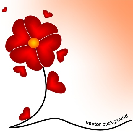 Flower of love  Vector