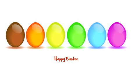 colored egg: Happy Easter Illustration