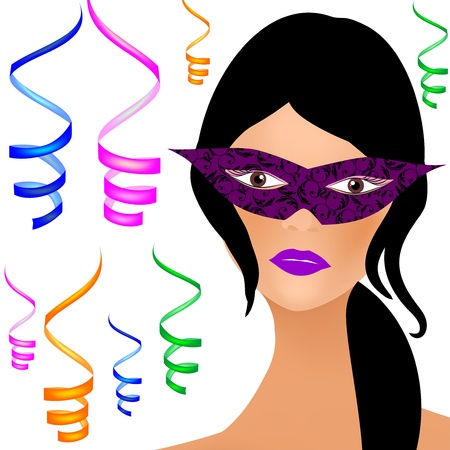 Masked Woman Vector