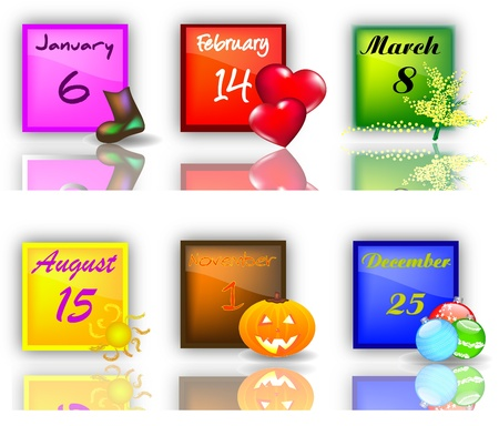 Set buttons with Holidays Stock Photo - 12467394