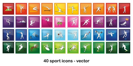 Sport Icons Stock Vector - 12467411