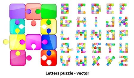 Letters puzzle Vector