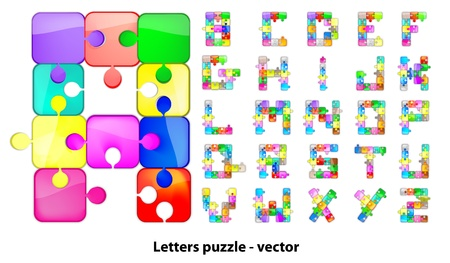 Letters puzzle Vector