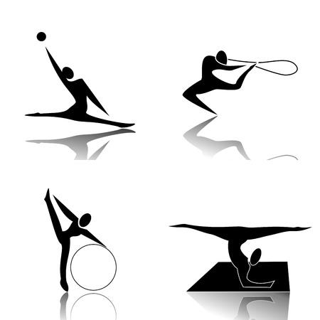 disciplines: Ritmische Gymnastiek Stock Illustratie