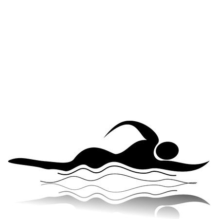 disciplines: Zwemmen Stock Illustratie