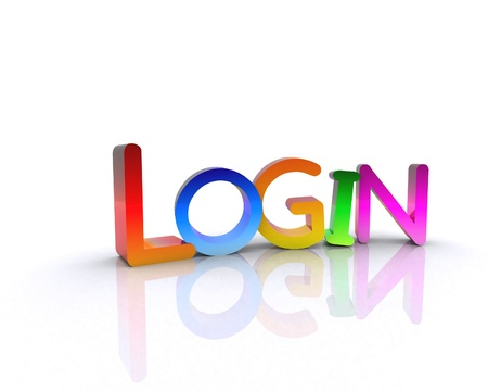 Login - 3D Stock Photo